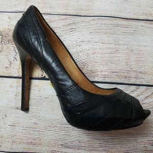 L.A.M.B. Black stiletto Tansy leather size 7.5 M